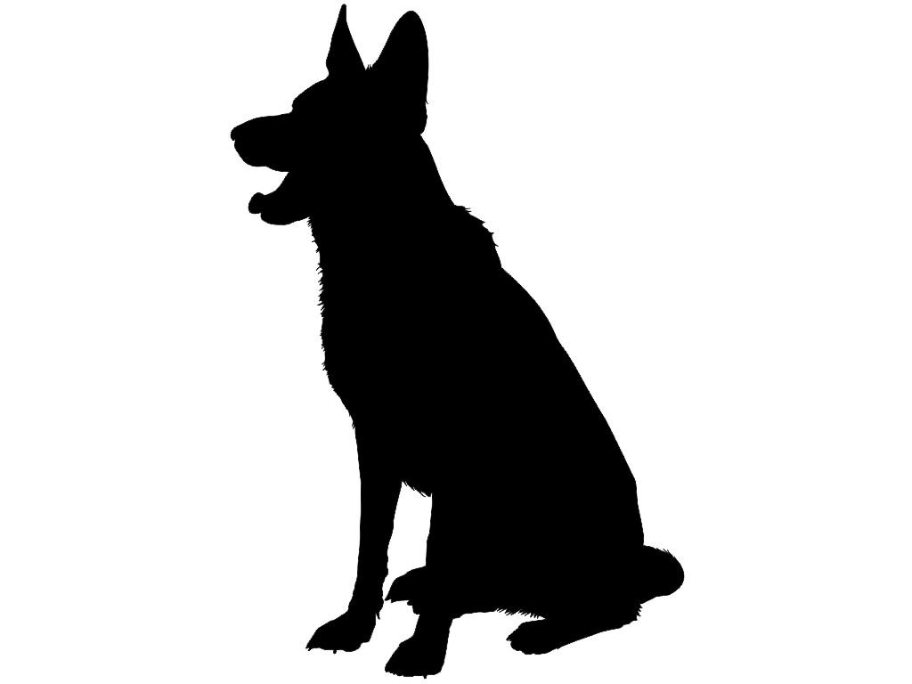 The gallery for --> Sitting Dog Silhouettes