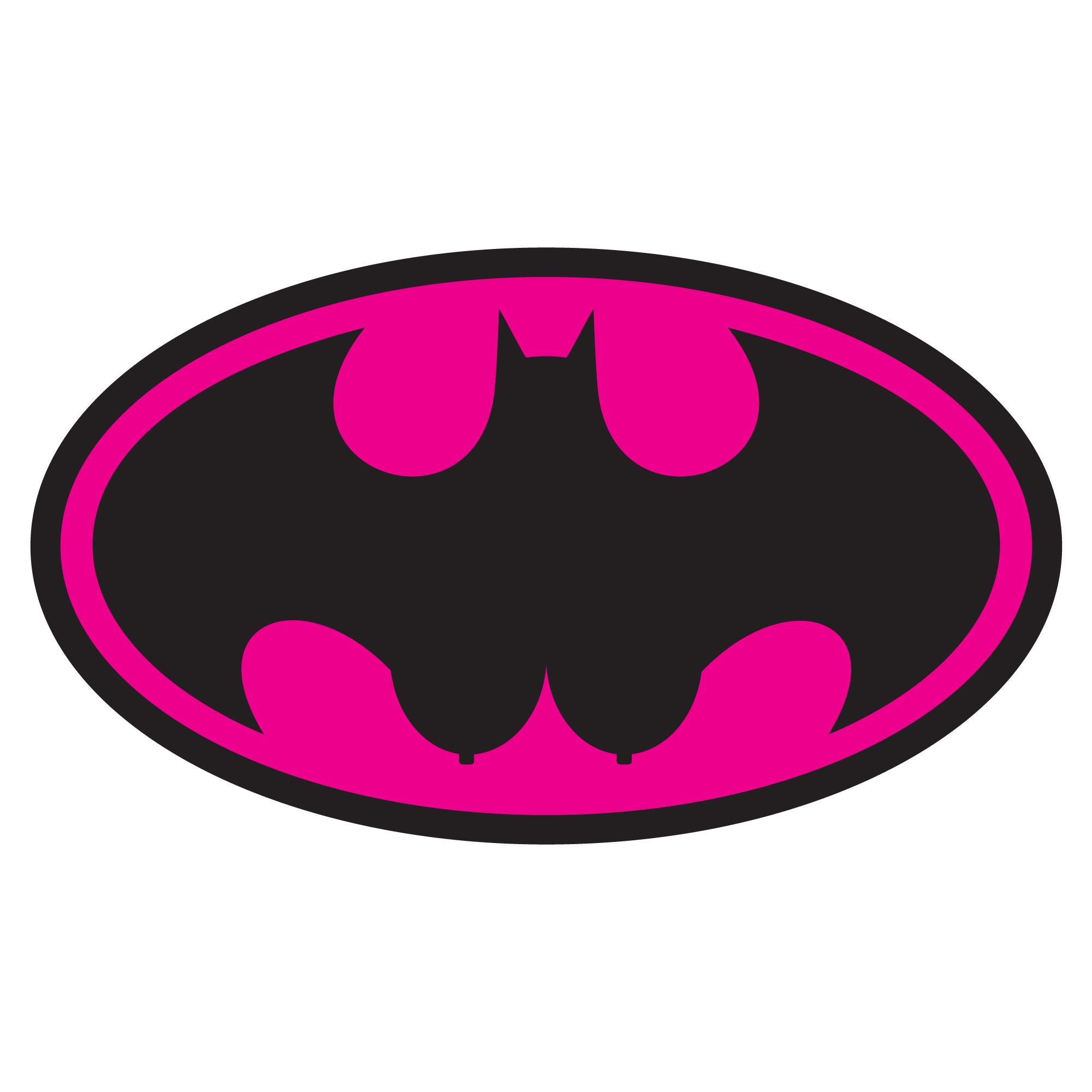 Batman Logo Pink - ClipArt Best