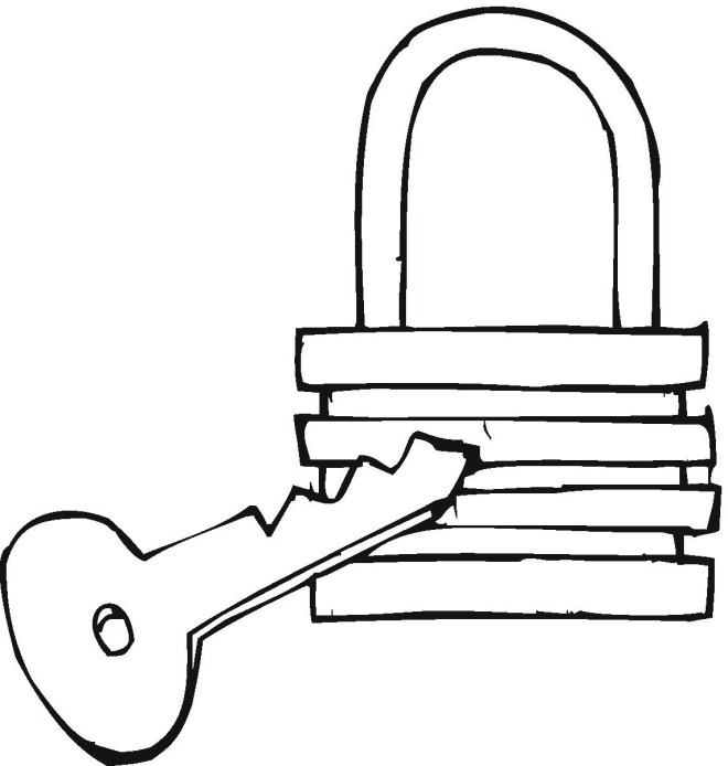 Coloring picture of a key clipart best for Key coloring page