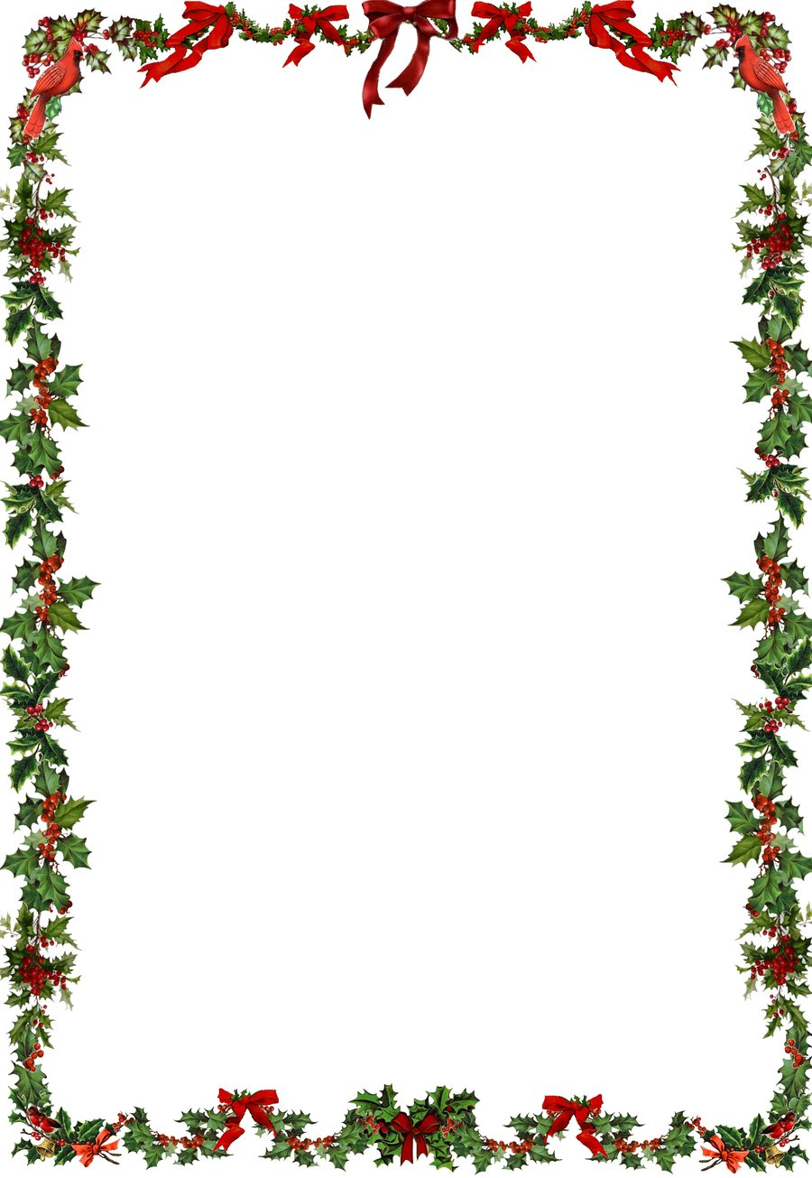 christmas holly border coloring pages - photo#34