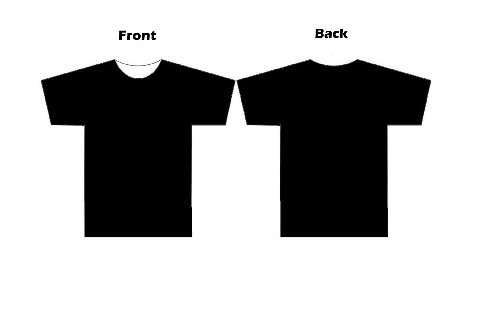 Black t shirt design template clipart best for Typography t shirt design template