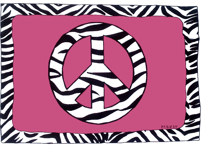 the gallery for gt zebra peace sign backgrounds