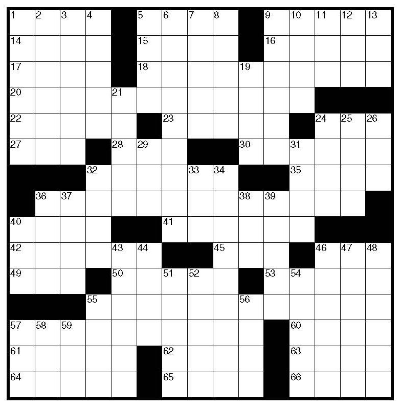 printable blank crossword puzzle grid template