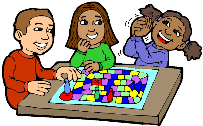 Kids Playing Games Clip Art Children playing board games