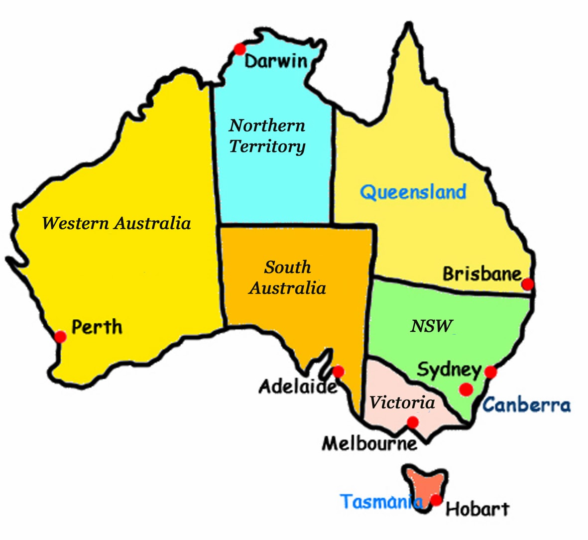 Maps Update 800566 Australia Map Kids Interactive Map Of – Map of the States of Australia