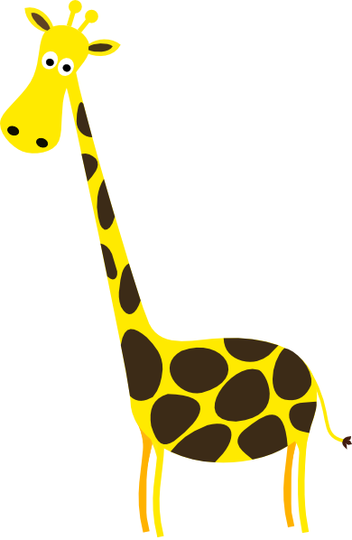 Giraffe Clipart Black And White - Free Clipart Images