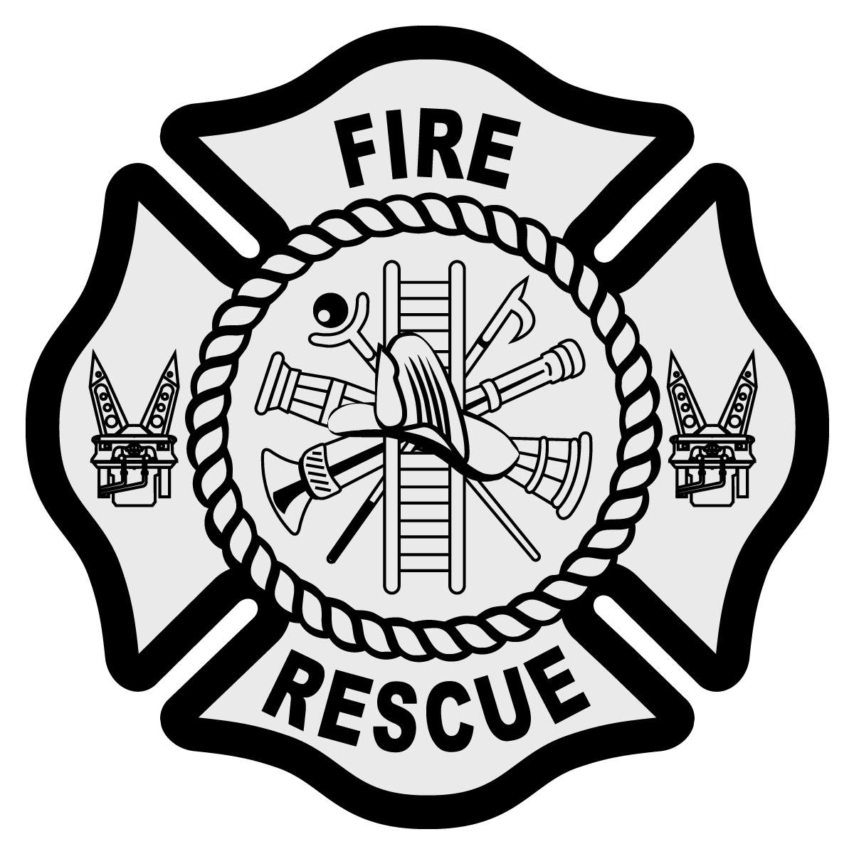 Fire Rescue Maltese Cross Decal - The Emergency Mall