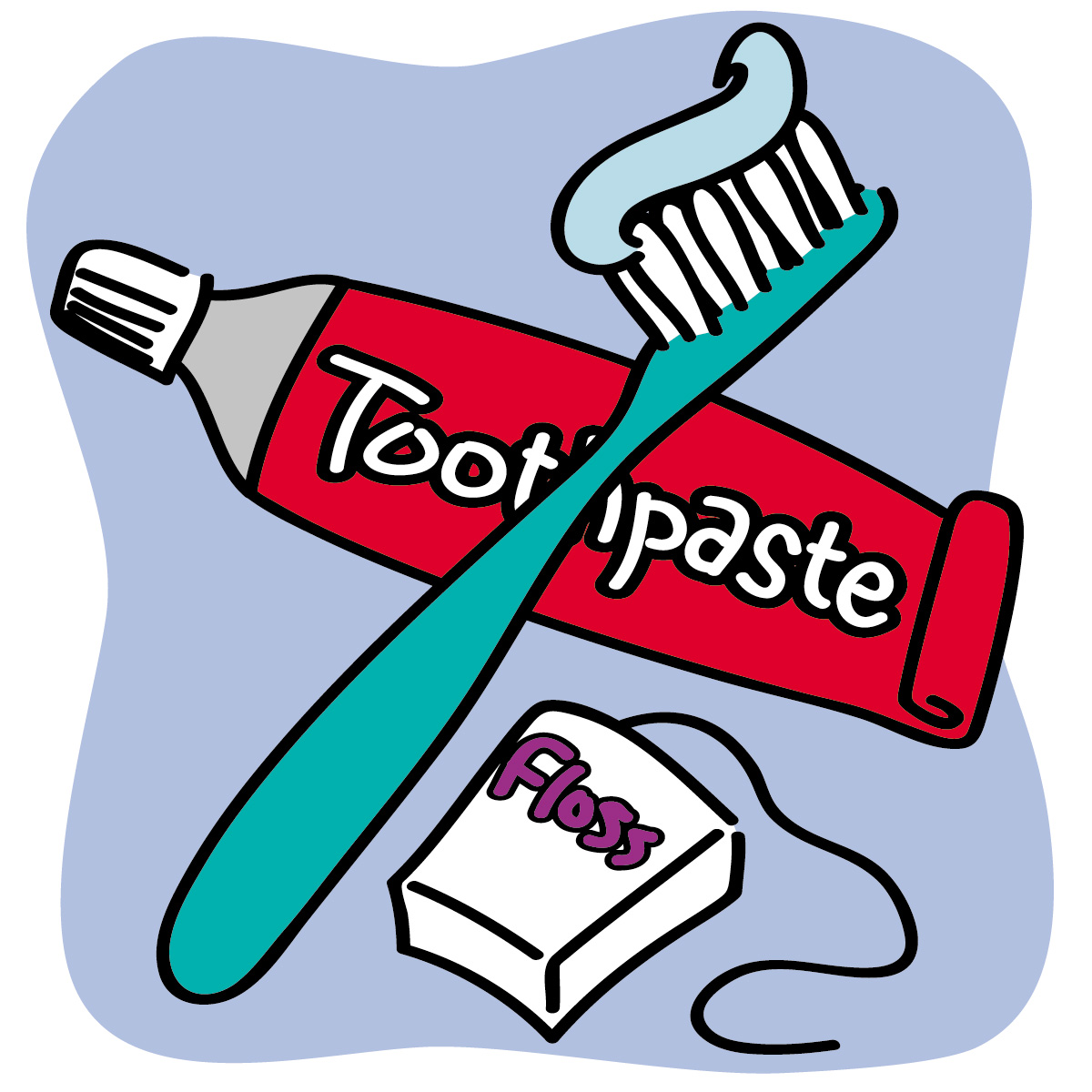 Clipart toothbrush and toothpaste