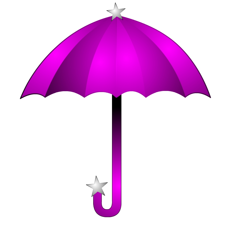 Pink And Purple Umbrella Clipart - ClipArt Best