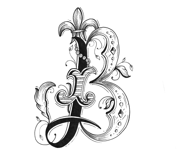Alphabet Letter Designs Art: Graphic Letters Design
