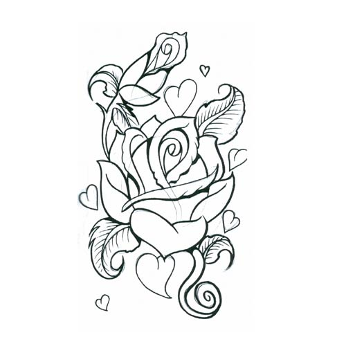 Drawings Of Hearts And Roses ClipArt Best
