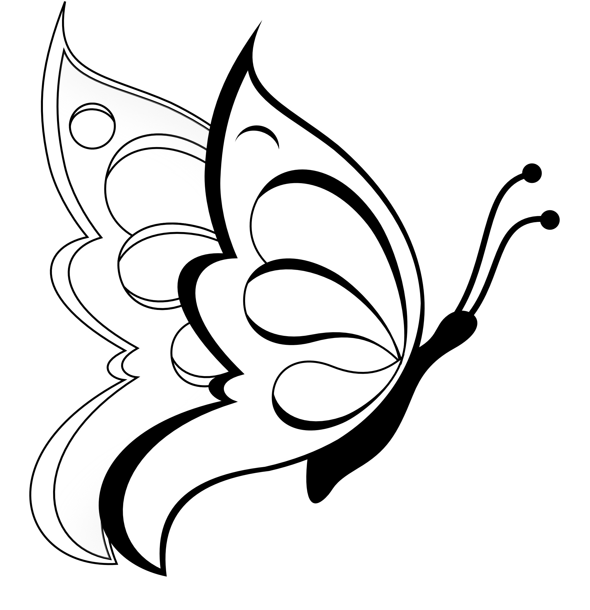 Easy Drawings For Kids Butterfly - ClipArt Best