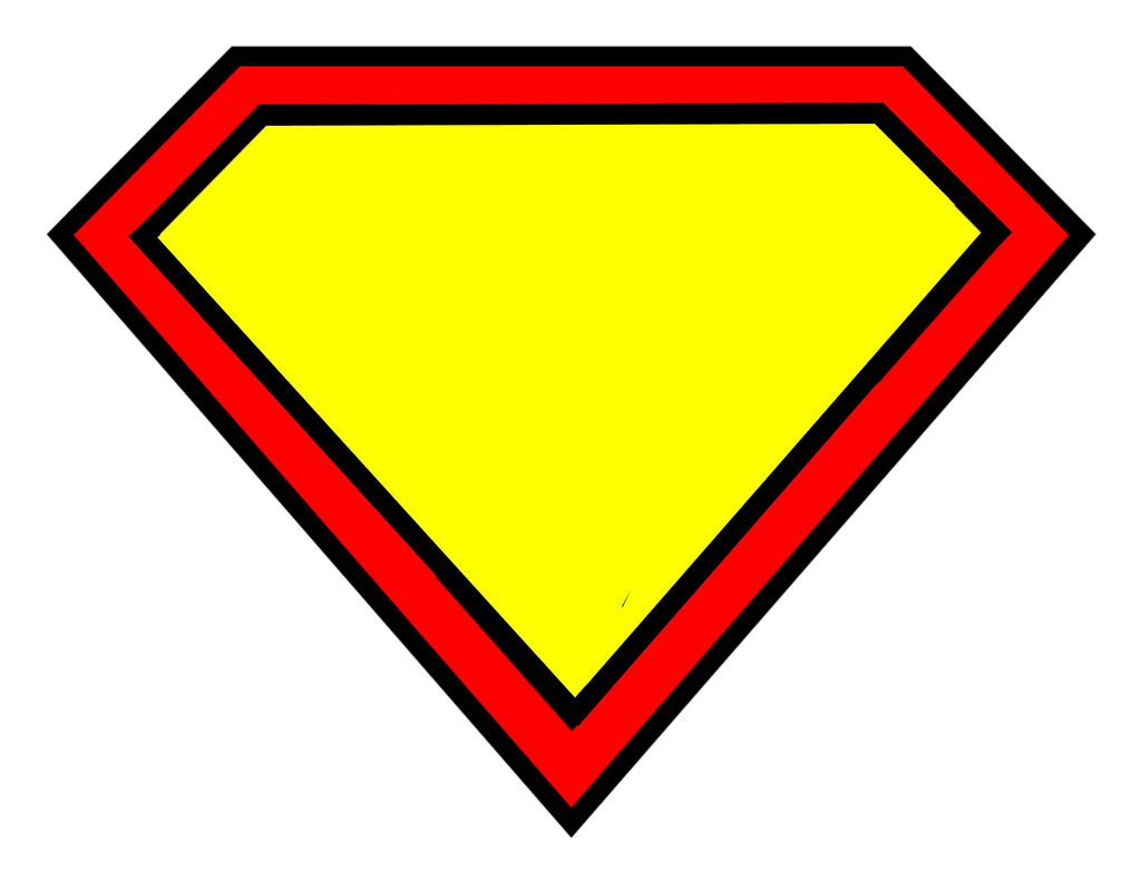 blank superman logo template clipart best