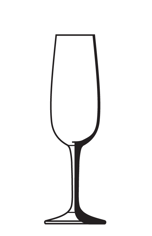 Champagne Glass Outline - ClipArt Best - ClipArt Best