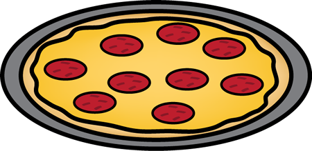 Pepperoni Pizza on a Pan Clip Art - Pepperoni Pizza on a Pan Image