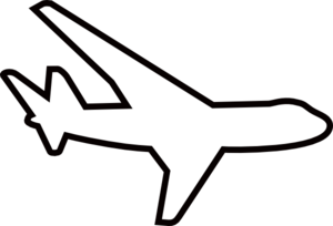 White plane clipart png