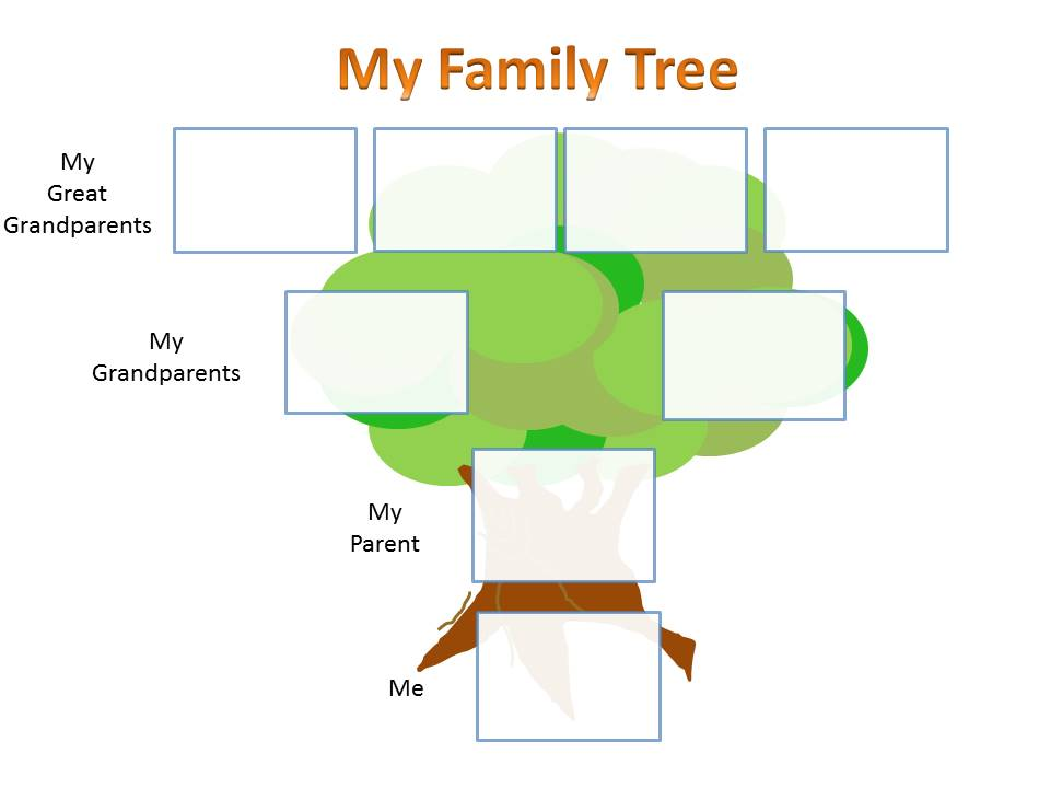 family tree for kids template clipart best