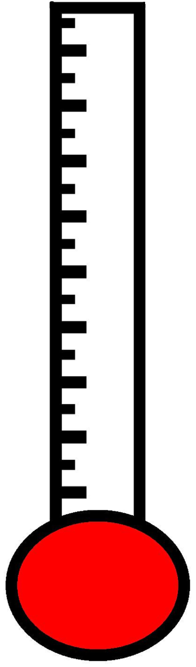 blank fundraising thermometer template