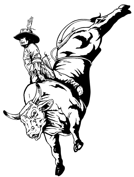Drawings of bull riding clipart best for Bucking bull coloring pages