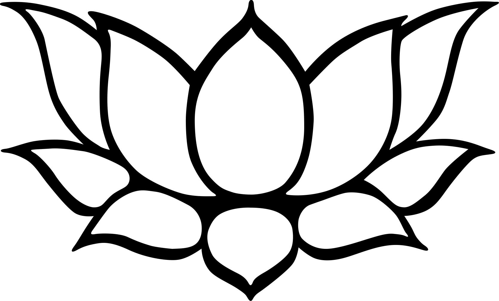 How To Draw A Lotus Flower ClipArt Best