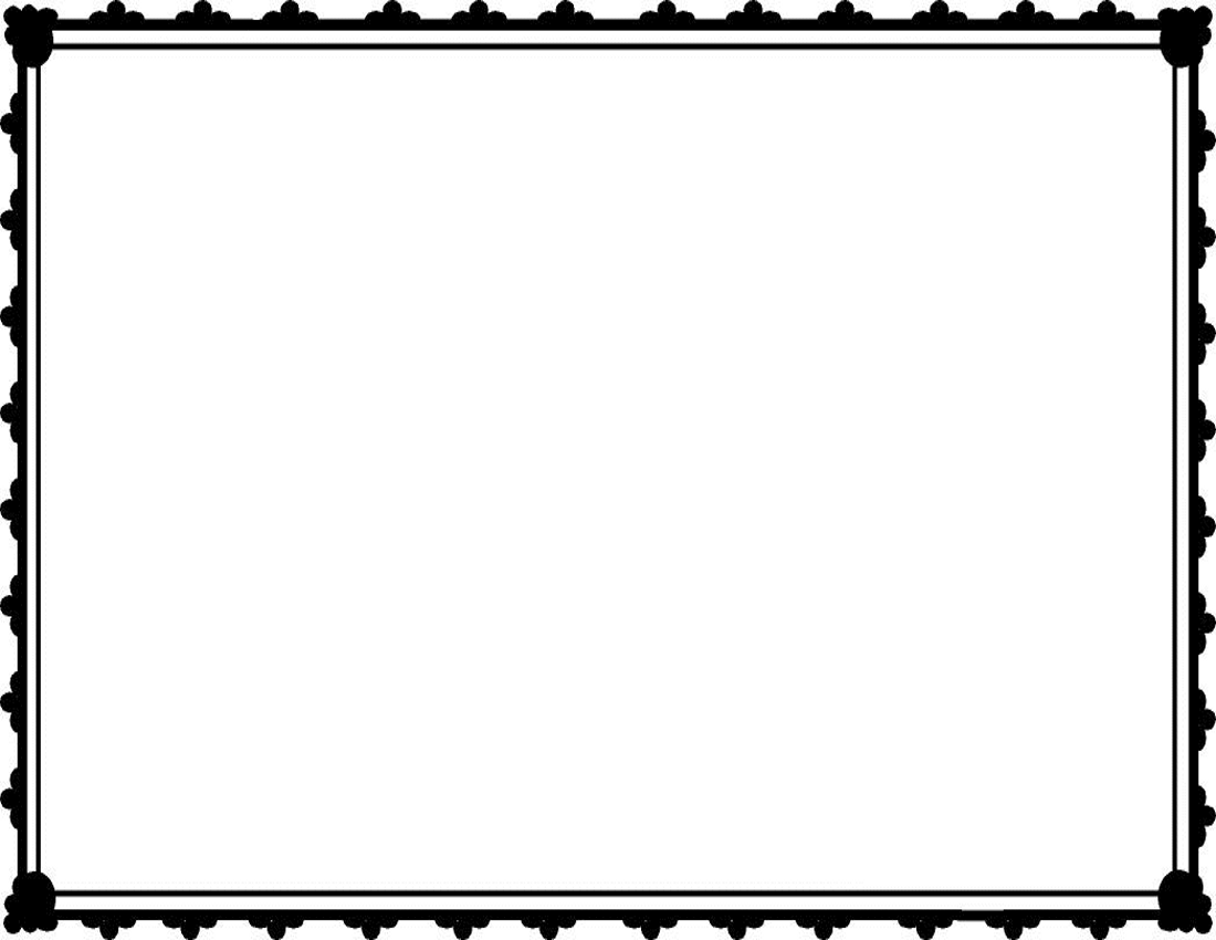 free black and white clip art borders - photo #34