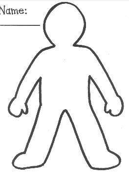 Body template for kids clipart best for Cut out character template