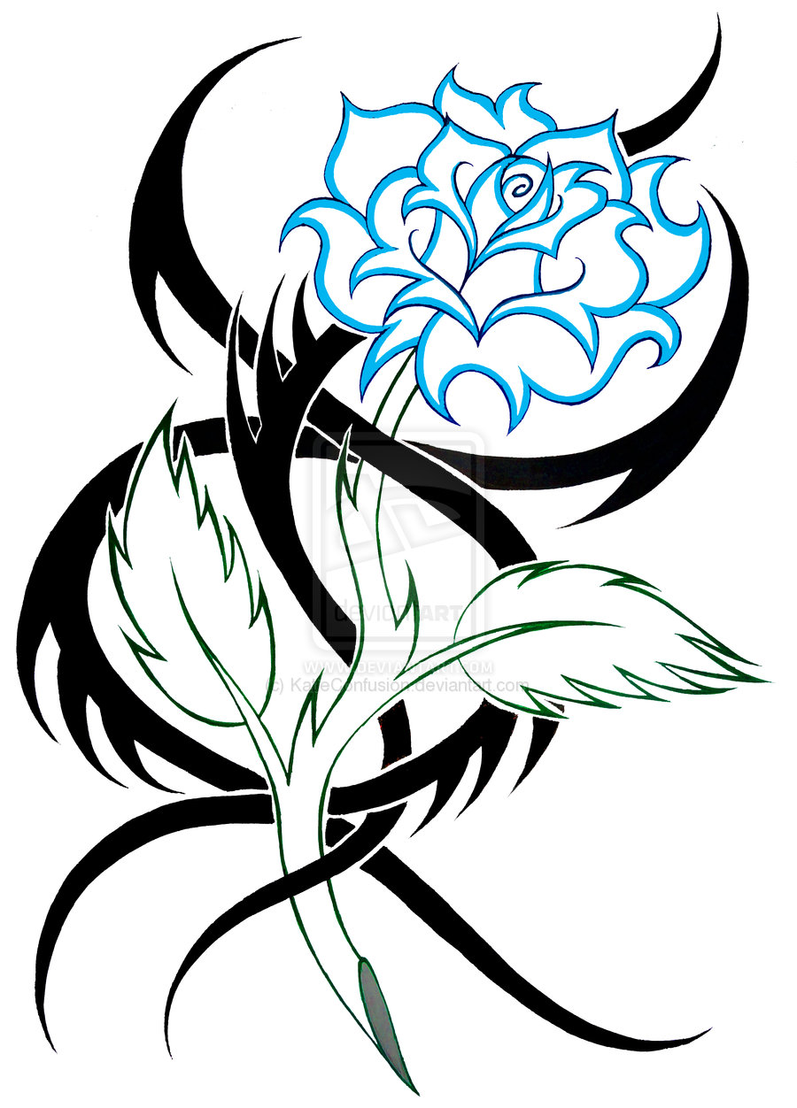 Tribal Flower Design - ClipArt Best