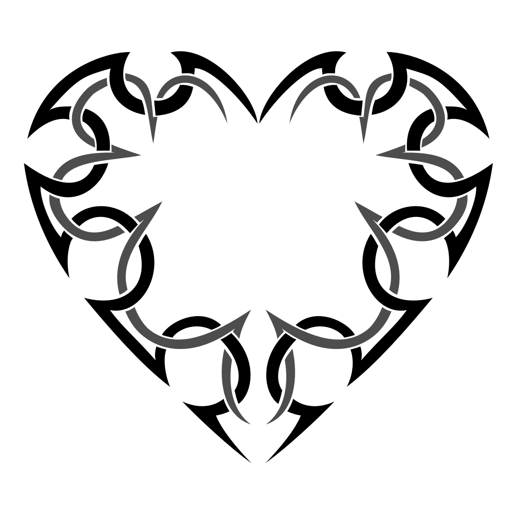 tribal heart tattoo meaning clipart best. Black Bedroom Furniture Sets. Home Design Ideas