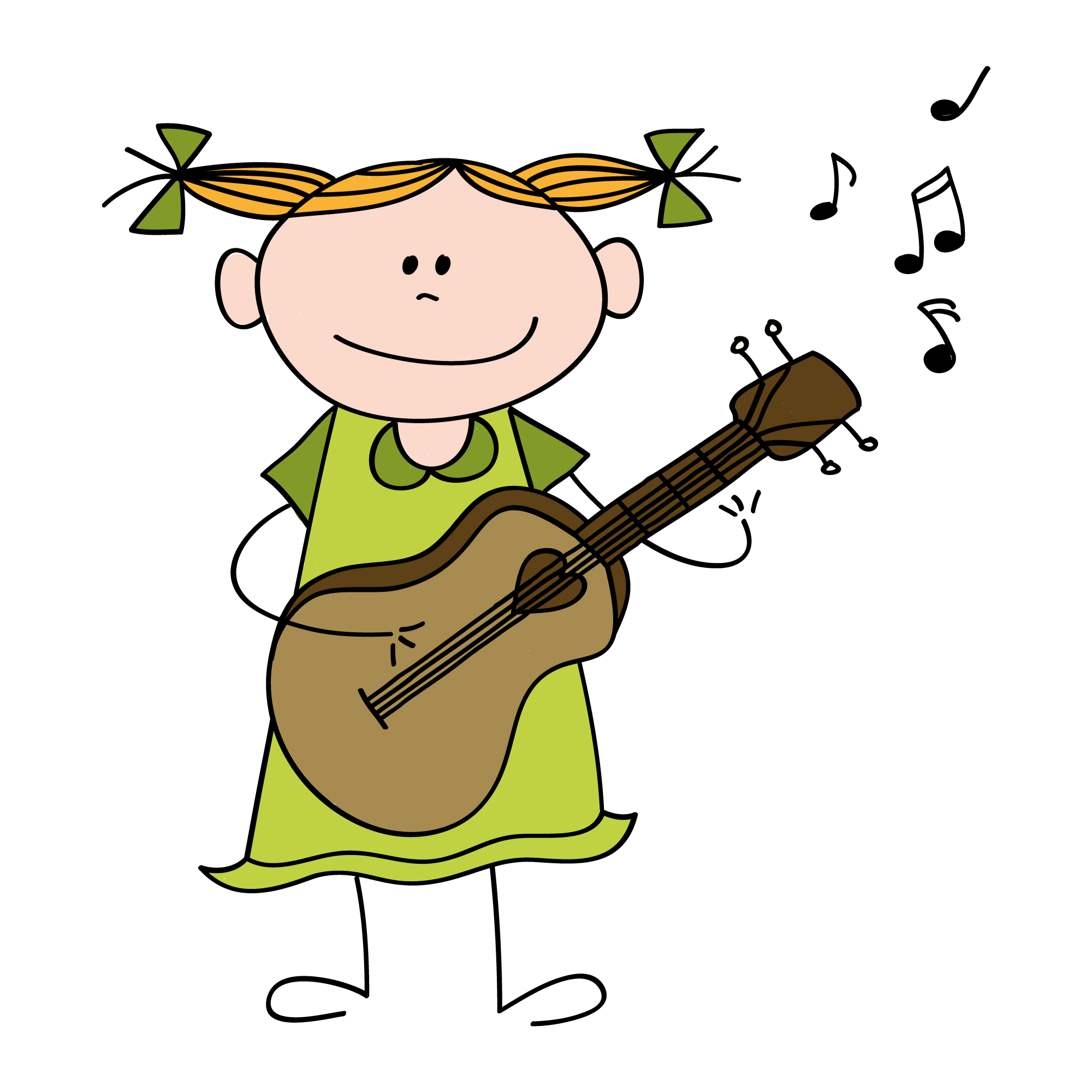 cartoon happy therapy guitar cartoons clipart musical children
