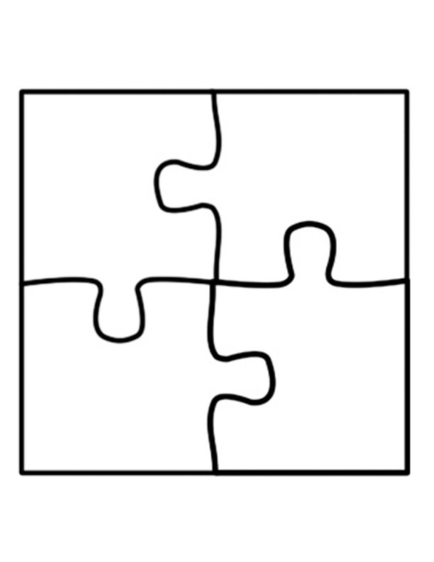 Puzzle piece template clipart best for Large blank puzzle pieces template