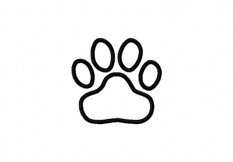 Tiger paw prints clipart best clipart best for Panther paw coloring page