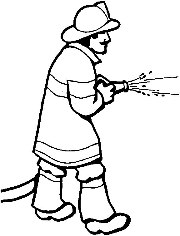 coloring book pages fireman hat - photo#8