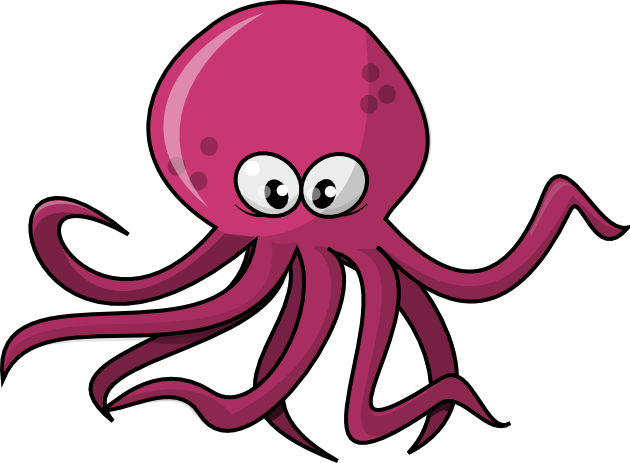 Free Cartoon Octopus Clip Art