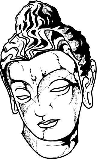 Buddha Face Line Drawing : Rib cage art clipart best