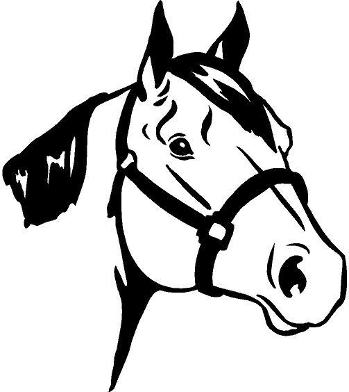 Clipart Horse Head Silhouette