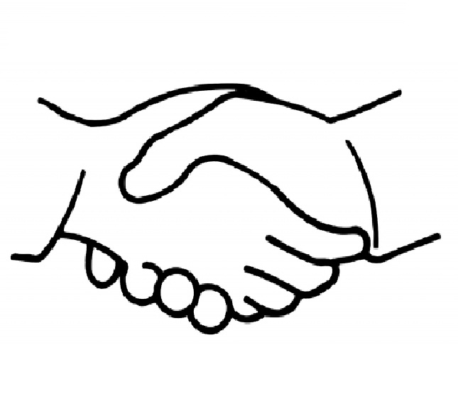 Coloring Pages of Shaking Hands   Coloring - ClipArt Best