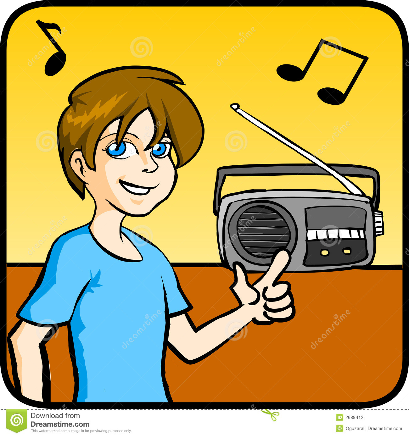 Listen Listening to Music Clipart