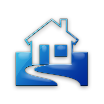 Icon home blue clipart best for Best home image