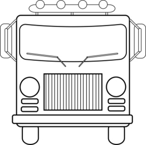 Colouring Picture View : Front View Of Fire Truck Colouring ClipArt Best
