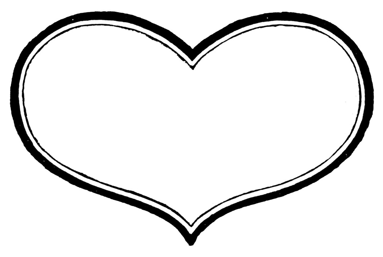 Heart black and white heart clipart black and white clip art heart ...