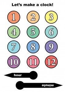 clock template for kids clipart best. Black Bedroom Furniture Sets. Home Design Ideas