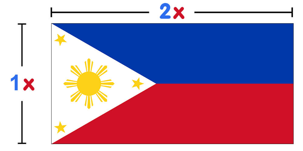 Philippines Flag - colors meaning of Philippines Flag