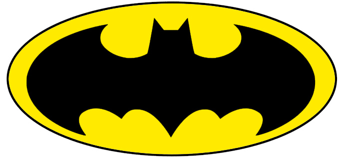 Hilaire image with printable batman symbol