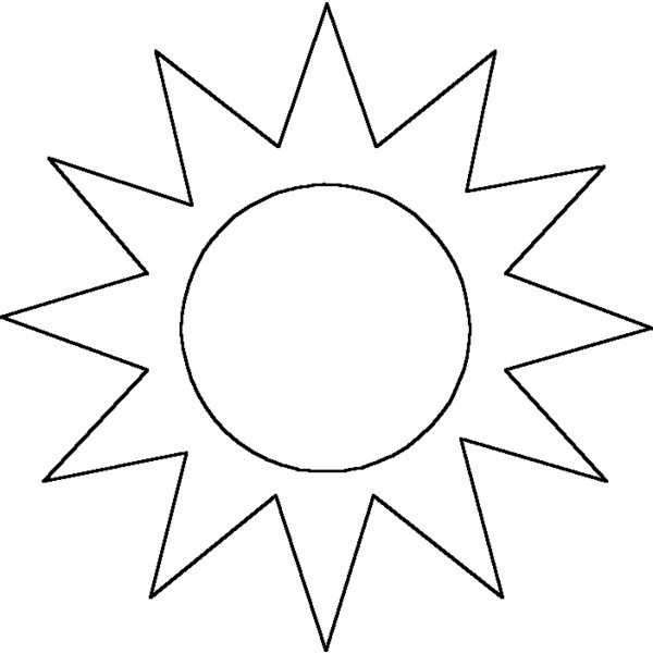 Line Drawing Sun : Outline sunshine clipart best