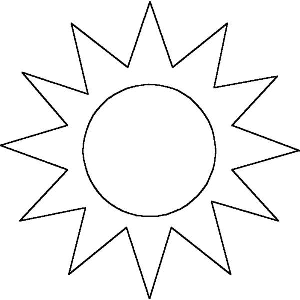 Line Art Sun : Outline sunshine clipart best