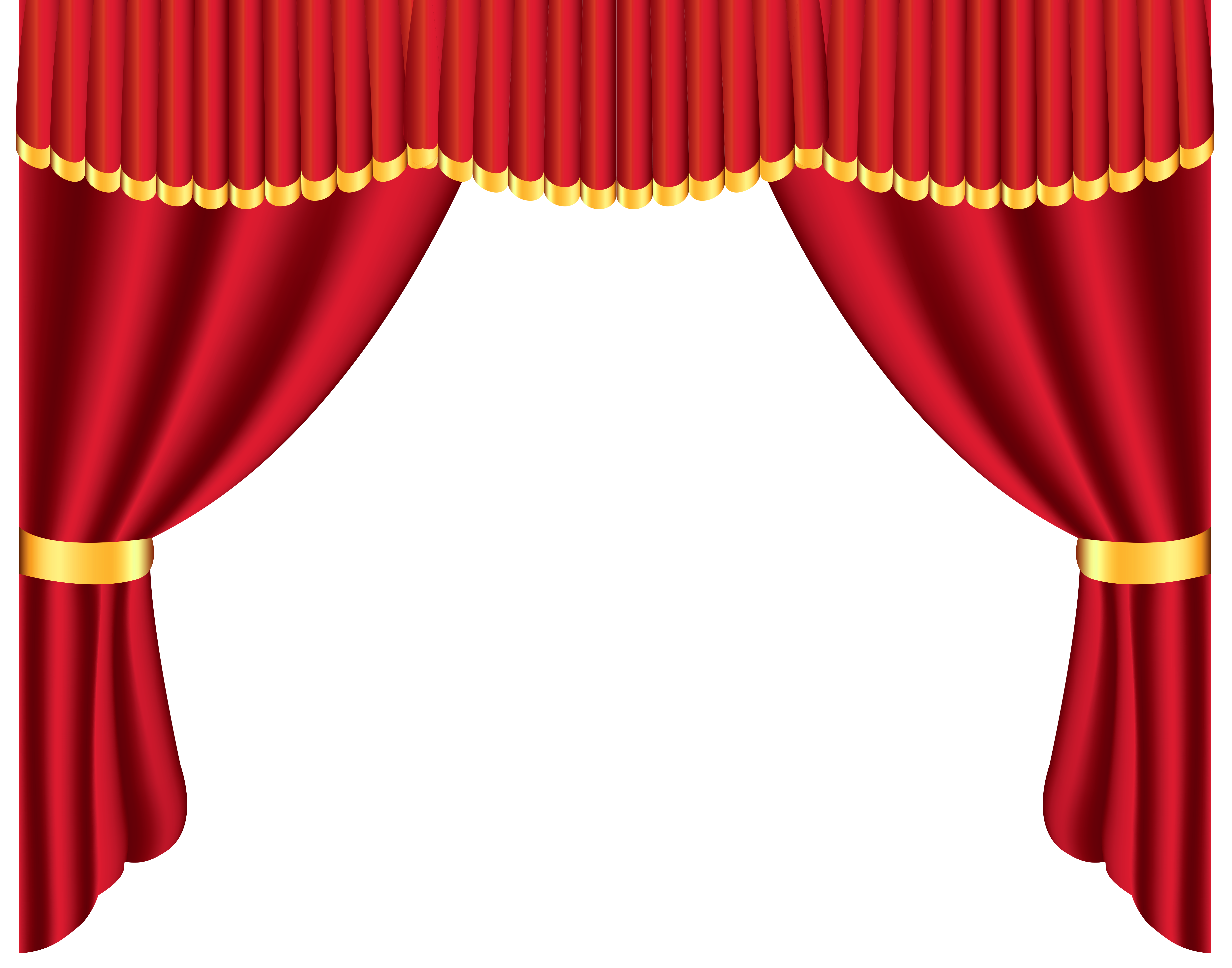 Red curtain clip art clipart best for White stage curtains png