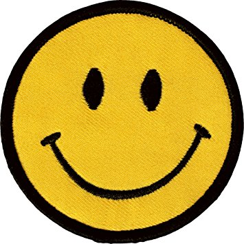 Amazon.com: 1 X Smiley Happy / Smile Face Logo Badge Iron on ...