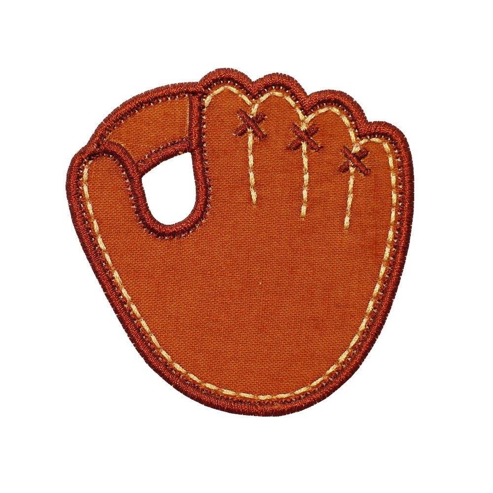 Baseball Glove machine embroidery applique design pattern in 4 sizes.