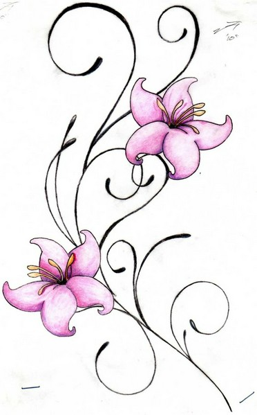 Flower Swirl Tattoo Design Images Pictures | Design images