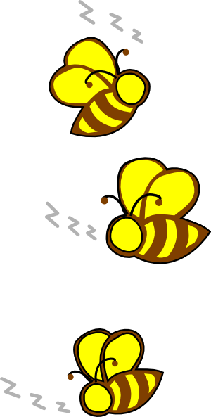 Buzzing bees clipart